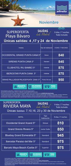 Oferta noviembre Pullmantur #agenciadeviajes