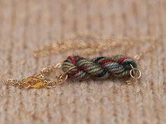 yarn skein necklace