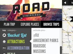www.roadtrippers.com  Great travel site for the USA all historical land marks/sights/things to do plus a road trip planner