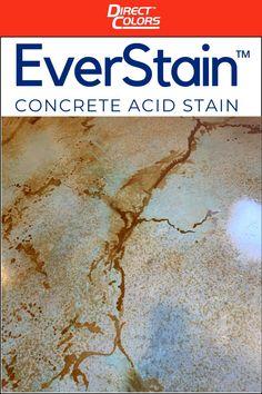 Concrete Acid Stain Colors, Cement Stain, Acid Stained Concrete, Concrete Floors, Concrete Staining, Concrete Patio, Concrete Cleaner, Diy Home Repair, Basement Flooring