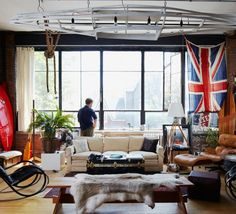 Soft Industrial And Masculine Design Apartment indoors ... - Urban Masculine Decor In An Apartment