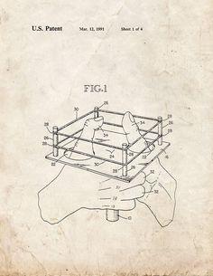 Thumb Wrestling Game Apparatus Patent Print