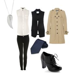 """Supernatural """"Castiel"""" inspired outfit"""