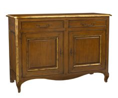 M-2121-404-LTC Lamballe Two Door Buffet in Light Cherry finish with Gold trim available at French Heritage.