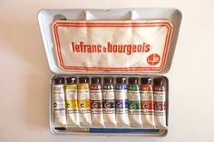 Lefranc & Bourgeois boîte de 9 tubes gouache   Collections, Ecriture, dessin, Accessoires   eBay!