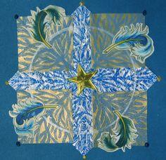 Art collage, S.Ende-Saxe, Seasonal Blue