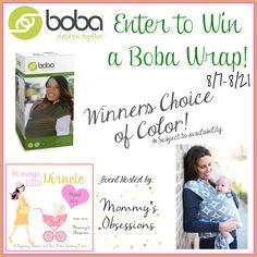 Boba Babywearing Wrap Giveaway ~ Ends 8/21 - mama pure