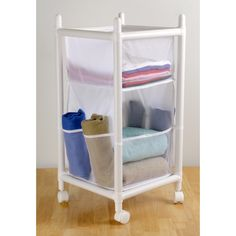 Badger Basket Natural//Unfinished Three Drawer Hamper//Storage Unit 00122  New