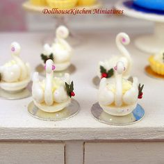 Fondant Swan  Dollhouse Miniature Christmas by DollhouseKitchen