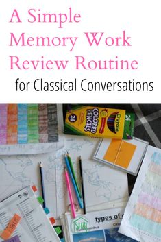 A Simple Memory Work Review Schedule for Classical Conversations memory work. #myccday
