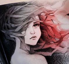 'Change' gorgeous drawing by Nashi @nashimanga Germany. 'Перемены' великолепный рисунок в исполнении художника из Германии Наши.  #иллюстрация #живопись #искусство #графика #холст #арт #выставки #art #illustration #pencil #artsy #drawing #draw ##contemporaryart #urban #sketchbook #graphic #exhibitions #pen #timetoart