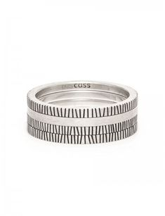 Zebra Four Stack Ring – Silver at e.g.etal