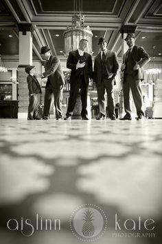 Black and white fedora groomsmen
