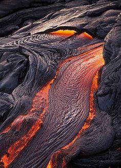 Lava flow by Adrian Warren - Mount Kilauea, Hawaii
