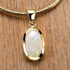 White Opal Pendant Yellow Gold Tiny Galaxies Collection by Anderson-B. Opal Necklace, Opal Jewelry, Unique Jewelry, Gold Jewelry, Jewelry Design, Fine Jewelry, Pendant Necklace, Jewellery, Jewelry Box