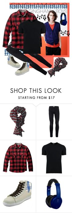 """""""Gingham Boys"""" by giovanina-001 ❤ liked on Polyvore featuring DIBI, Topman, Smartwool, Dolce&Gabbana, Keep, Vivitar, Music Notes, men's fashion, menswear and gingham"""