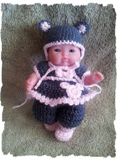 Crochet Pattern Mouse Outfit for 5 Inch Berenguer by alcarrico32, $3.99