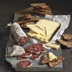Williams Sonoma features a wide selection of gourmet food and specialty foods. Find gourmet food gifts, cocktail mixes, pastries, cheeses and more. Charcuterie, Great Recipes, Favorite Recipes, Cheese Lover, Meat And Cheese, Tapas, In Vino Veritas, Mets, Skirt Steak