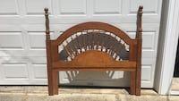 Arch brown wooden bed headboard Ocean City