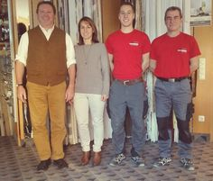 Das Kiefersauer Team V.l.n.r: Johann Kiefersauer, Franziska Kiefersauer, Florian Kiefersauer, Besim Gjocaj