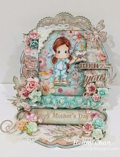 Caterina Venezia Craft - Henny: HAPPY MOTHER'S DAY, MOM Happy Mothers Day Mom, Mo Manning, Magnolia Stamps, Easel Cards, Magnolias, Scrapbook Cards, Greeting Cards, Paper Crafts, Christmas Ornaments