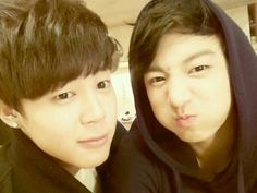 Pre-debut Jimin and Jungkook