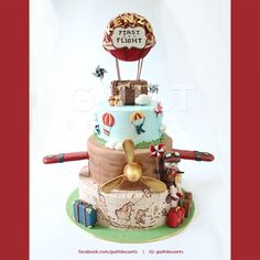 Kenzo's First Flight - Cake by Guilt Desserts