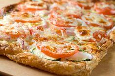 Puff Pastry Pizza with Summer Veggies Recipe