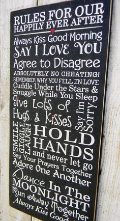Rules For Our Happily Ever After Happy Marriage by AmericanAtHeart