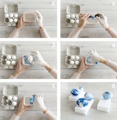 Easter is around the corner so let me serve you a trendy Easter Egg Idea: The Marble Look. Easter Eggs, Diy Ideas, Marble, Projects, Home Decor, Log Projects, Decoration Home, Room Decor, Granite