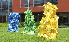 Adelphi University is pleased to showcase new sculptures as part of their 2016-18 Outdoor Sculpture Biennial exhibit which will run through the end of the 2017-2018 school year. Featuring sculptures made of recycled items and other materials, the unique works of art are spread across the 75-acre campus and offer a splash of color and creativity! The opening reception is this Saturday at 1 PM - See the article below for additional info.