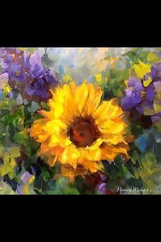 Winter's End Sunflower by Nancy Medina
