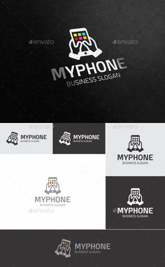 My Phone Logo Design Template - Objects Logo Templates Vector EPS, AI Illustrator. Download here: https://graphicriver.net/item/my-phone/18809640?ref=yinkira
