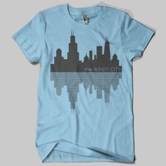 Chicago Skyline Windy City TShirt by chitownclothing on Etsy, $19.99