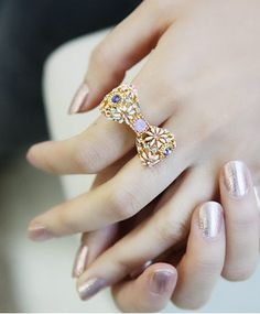 Wholesale Beautiful & Fashionable Diamond Bow-tie Ring----Gold top dresses