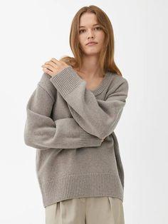 Oversized Wool Jumper - Mole - Knitwear - ARKET GB