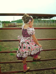 Girls Western Wear Dress Size 5T by RufflesandRouge on Etsy, $42.00. Cowgirl. Country girl.
