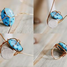 DIY wire wrap ring by http://sincerelykinsey.blogspot.co.uk