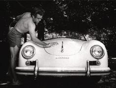 Jimmy Dean & his spyder porche