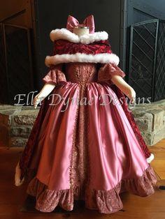 Belle Pink & Red Dress – Disney Inspired from Beauty and the Beast Belle robe rose & rouge Disney inspiré de la belle et la Disney Princess Dresses, Disney Dresses, Girls Dresses, Flower Girl Dresses, Princess Costumes, Disney Cosplay, Cape Dress, New Dress, Cape Coat