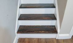 From Carpet to Hardwood: How to Easily Transform Your Stairs After- refinished basement stairs Tile Stairs, Wooden Stairs, House Stairs, Carpet Stairs, Hardwood Stairs, Staircase Makeover, Basement Makeover, Basement Renovations, Stair Redo