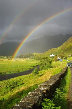 ✯ Double Rainbow over Scotland