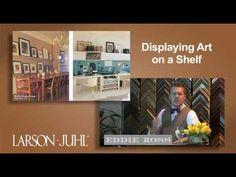 Eddie Ross & Larson-Juhl - Displaying Framed Art on a Shelf - http://art-press.co/eddie-ross-larson-juhl-displaying-framed-art-on-a-shelf/