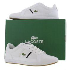 online store 8468c 959da Lacoste Shoes, Trainers, Boots, Mens Europa CROC SPM White Black - £68.99