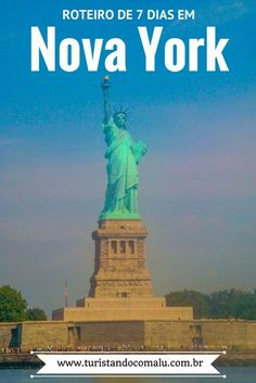 Roteiro de viagem completo por Nova York em 7 dias. Incluindo todas as atrações de Manhattan e arredores #timessquare #brooklyn #novayork #turismo #viagem #destinos