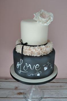 Shabby Chic Wedding Cake - Cake by emma lockett