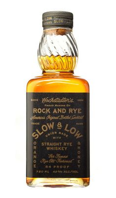 Slow & Low – Straight Rye Old-Fashioned in a Bottle Best Rye Whiskey, Bourbon Whiskey, Whisky, Champagne Drinks, Cocktail Drinks, Cocktails, St Germain Liqueur, Glass Bottles, Crystals