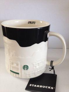 Starbucks Relief Coffee Mug Cup 2013 Jeju Korea NEW #Starbucks