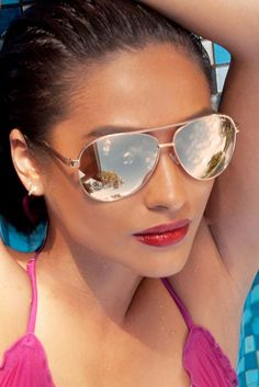 Quay x Shay Mitchell Collection Vivienne Sunglasses in Gold