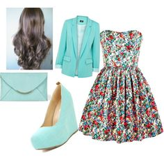 adorable, i dont like the blazer much but the dress & shoes would be super adorable together.